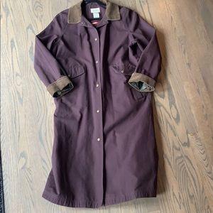 LL Bean Duster Barn Coat